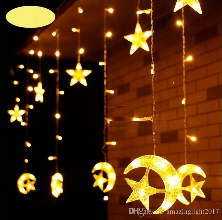 6m 0 8m Led Moon And Star String Lights Led Garland Light