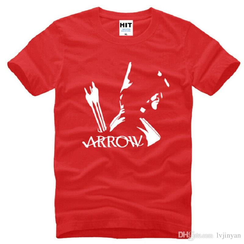 New Summer Oliver Queen T Shirts Men Cotton Short Sleeve O Neck Green Arrow Printed Mens T-Shirt Fashion Male Sports Tops Tees