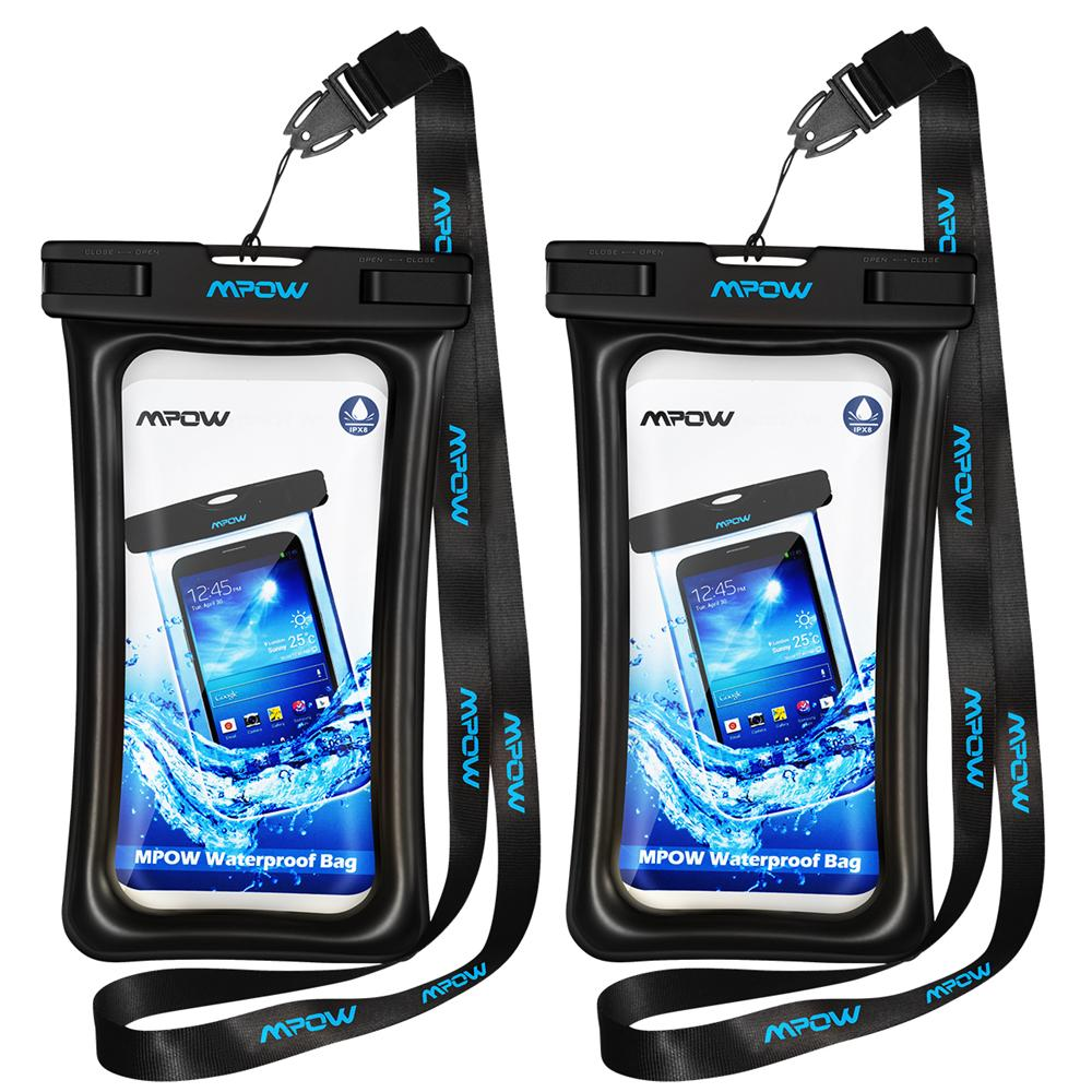 a2ef4e58447f42 Mpow Original Floatable Ipx8 Waterproof Case Dry Phone Pouch Bag Clear Cover  For Iphone 7 Plus /Huawei P9 Etc 5 .7 Inch Cell Phone Cases And Covers Cell  ...