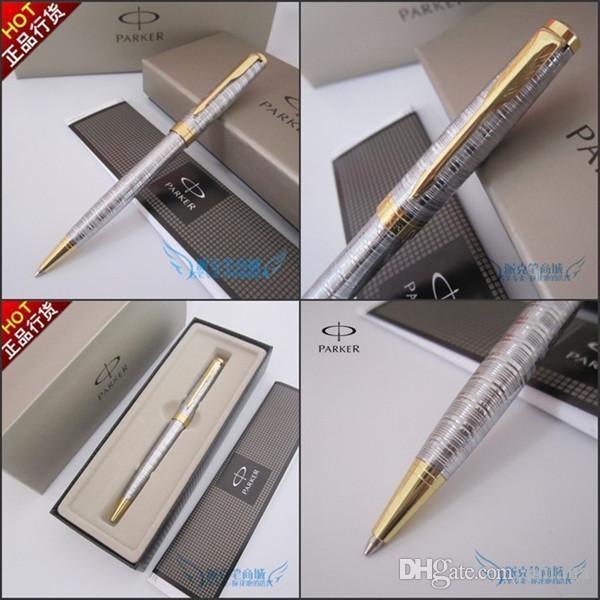 Envío Gratis Parker Sonnet Oro Plata Bolígrafo Bolígrafos de Regalo de Metal de la Escritura Oficina de la Escuela de Proveedores de Calidad Superior Pluma de Negocios
