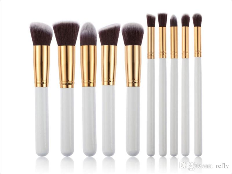 Kabuki Maquillage Brosses Set Outils Cosmétique Maquillage Brosse Outils Avec Nylon Cheveux Maquillage Top Qualité