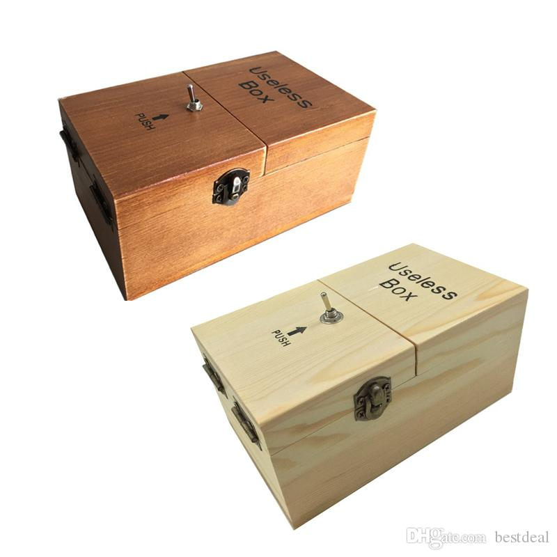 Game Toy Wooden Tricky Useless Box Diy Kit Creative Adult Funny Toys