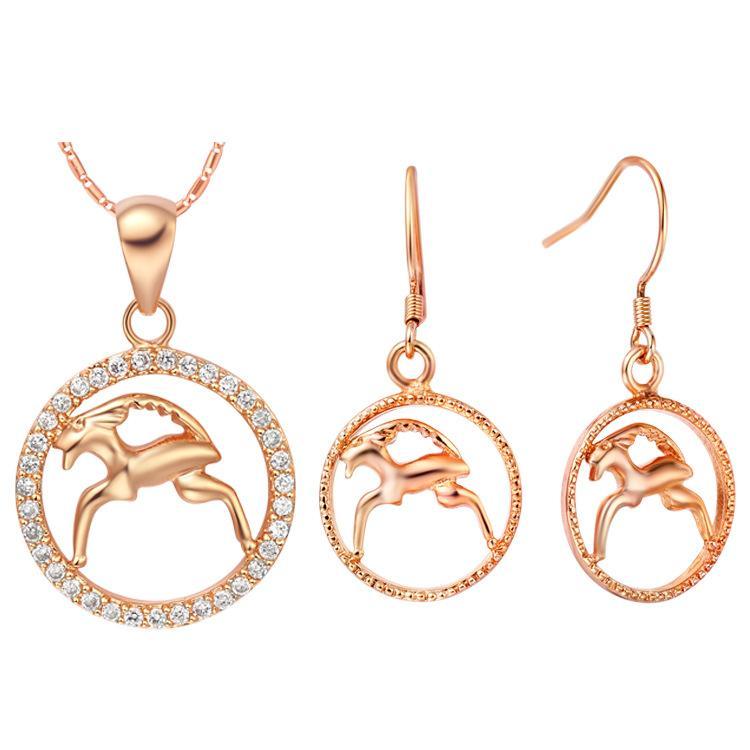 Orecchini pendenti in argento sterling 925 Bijoux African Mystic Zirconium Girls Bead NOVITÀ di costellazione costellazione costata di dodici s di