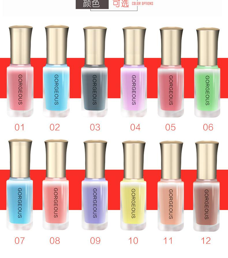 Summer New Jelly Nail Polish Nude Translucent And Unpeeled Quick ...