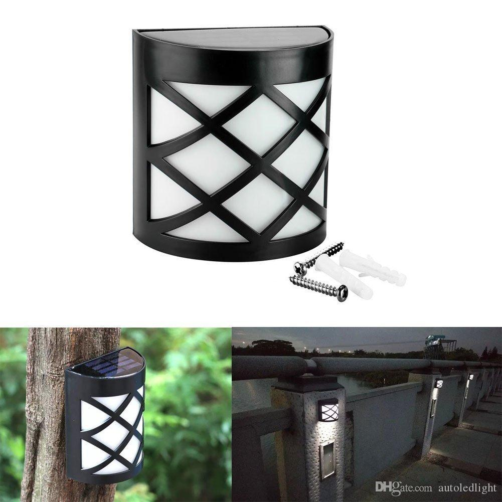 2018 6 led solar powered outdoor path light yard fence gutter 2018 6 led solar powered outdoor path light yard fence gutter garden wall lamp wireless 6 led solar sensor light wall garden fence lamp from autoledlight aloadofball Images