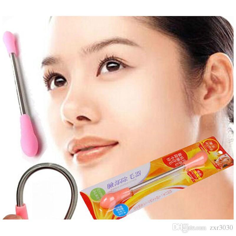 Removedor de Vello Facial Spring Threading Epistick Smooth Spring Hair Removal Remover Stick Depilator Facial Hair Removal Mini