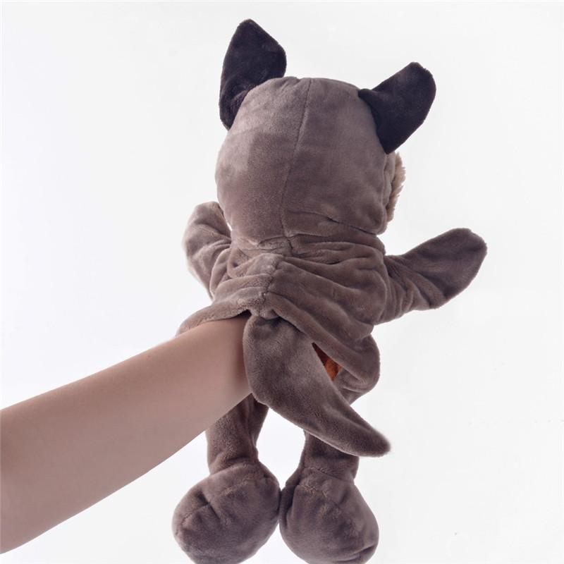 Plush Hand Puppets Simulation Animal Grey Wolf Puppets Kids Gifts Hand Puppet Parent-child game Plush Toys for Boys