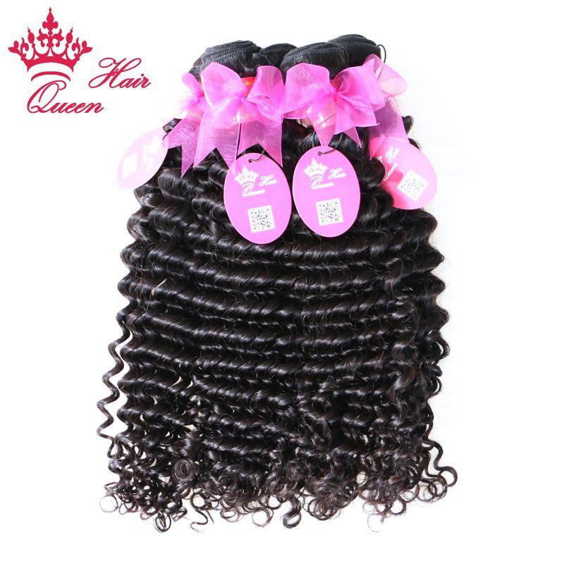 Королева волос бразильский Виргинские человеческих волос расширения глубоко вьющиеся волна 8