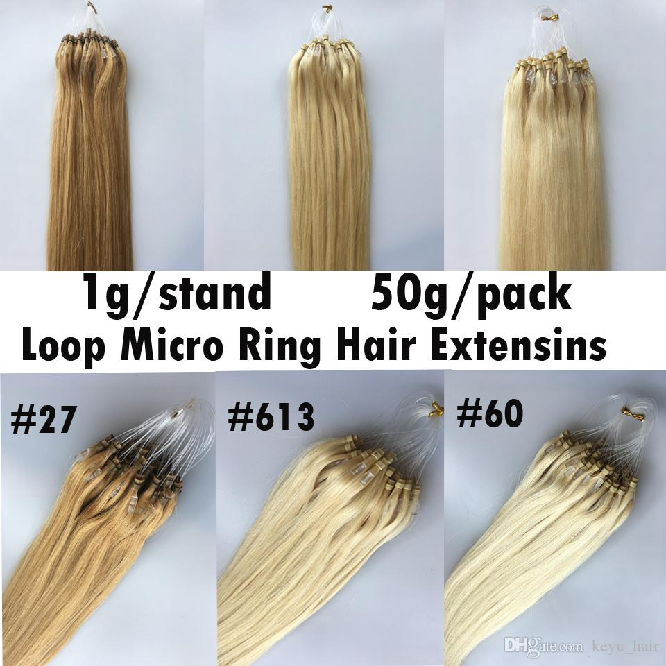 Fast Shipping Micro Loop Hair Extensions Human Remy Hair16 18 20 22