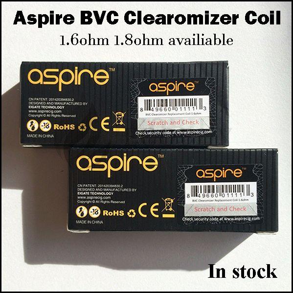 100% original Aspire bvc replacement coils clearomizer coil for Aspire CE5-s vivi-nova mini ce5 ET-S ets glass k1 k2 k4 cleito tank atomizer