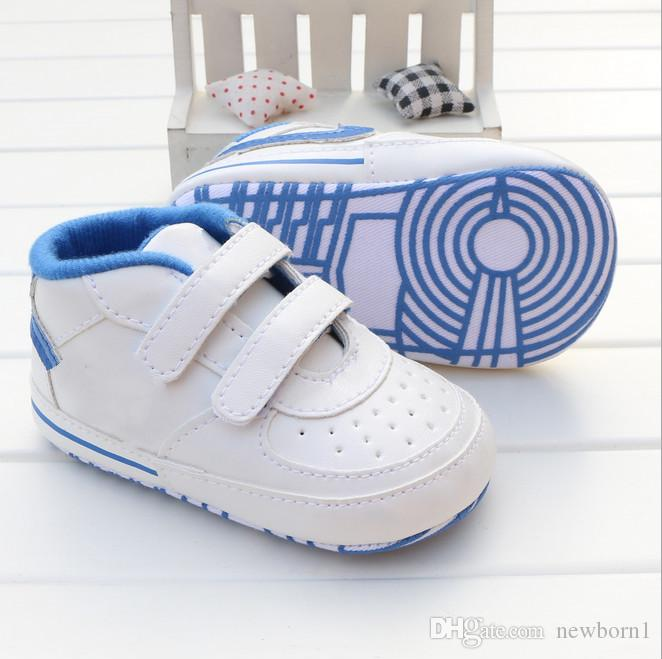 Младенческая малыша полоса цветок кроватки для детской кроватки мягкие подошвы ребенк девочки детские туфли предатель