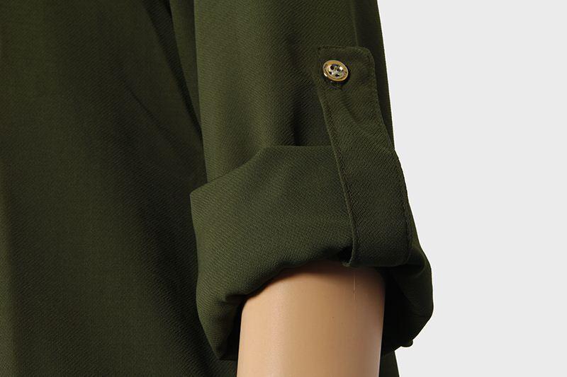 Sonbahar Blusas Kadınlar Bluzlar Açık Omuz Ofis Bayanlar Gömlek Gevşek V Boyun Seksi Casual Tops Artı Boyutu Kadın Giyim LJ5437T