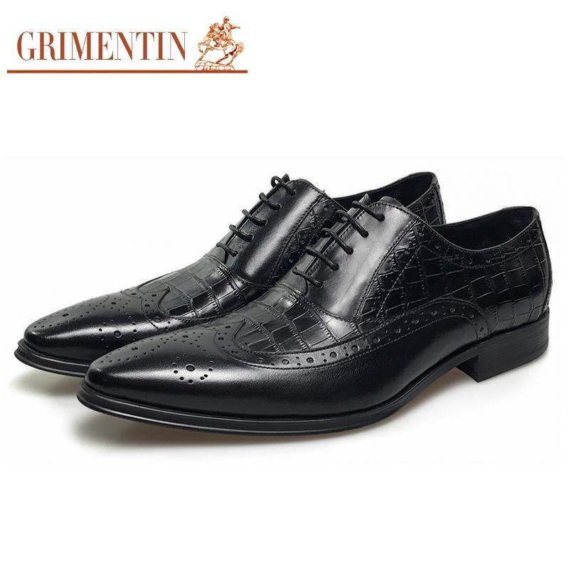 Großhandel Britischen Mode Vintage Oxford Männer Schuhe Echte Kuh Leder  Schwarz Business Männlichen Schuhe Größe  38 44 688 Men Shoes Von Chenlyn,  ... 30de3ff500
