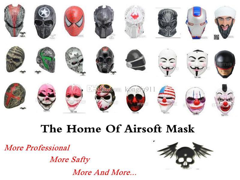 قناع تكتيكي الصفحة الرئيسية GEAR M06 AIRSOFT PAINTBALL COSPLAY شبكة سلكية حماية كاملة الوجه قناع الجمجمة المعادن والعتاد الصلبة رمادي فوكس