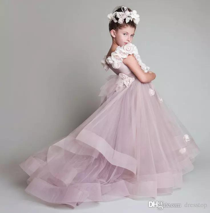 Vintage Krikor Jabotian Flower Girl Dresses Children For Weddings Tiered Kid  First Communion Dress Floor Length Girl Pageant Gowns Ivory Flower Girl  Dresses ... 3ec6de568dcc