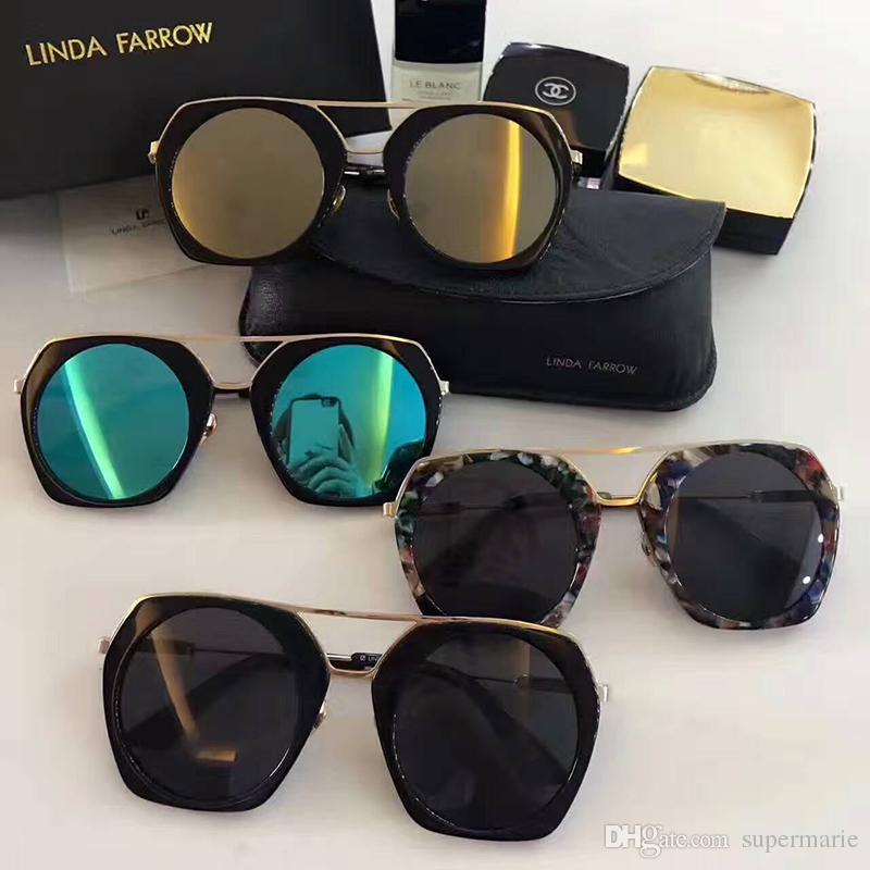 2018 Fashion Style Brand Sunglasses Hexagonal Metal Sun Glasses Irregular Personality Fashion