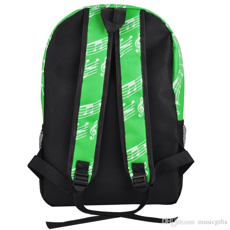 Fashion Piano Keyboard Pattern Packpack For School Relaxation Travel Stylish Double Shoulder Bags Racksacks