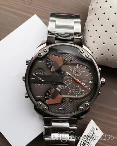 c6ea996abf09 Free shipping New MR. DADDY 2.0 DZ7315 DZ7315 Quartz Chronograph Grey  Stainless Steel Watch Business Men Watch+Original Box