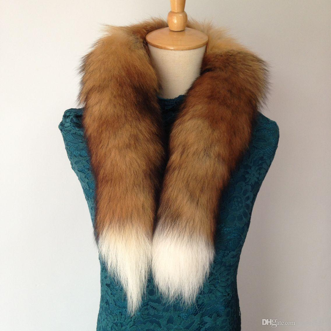 2017 Winter Fur Scarf 100 Real Natural Fox Fur Collar