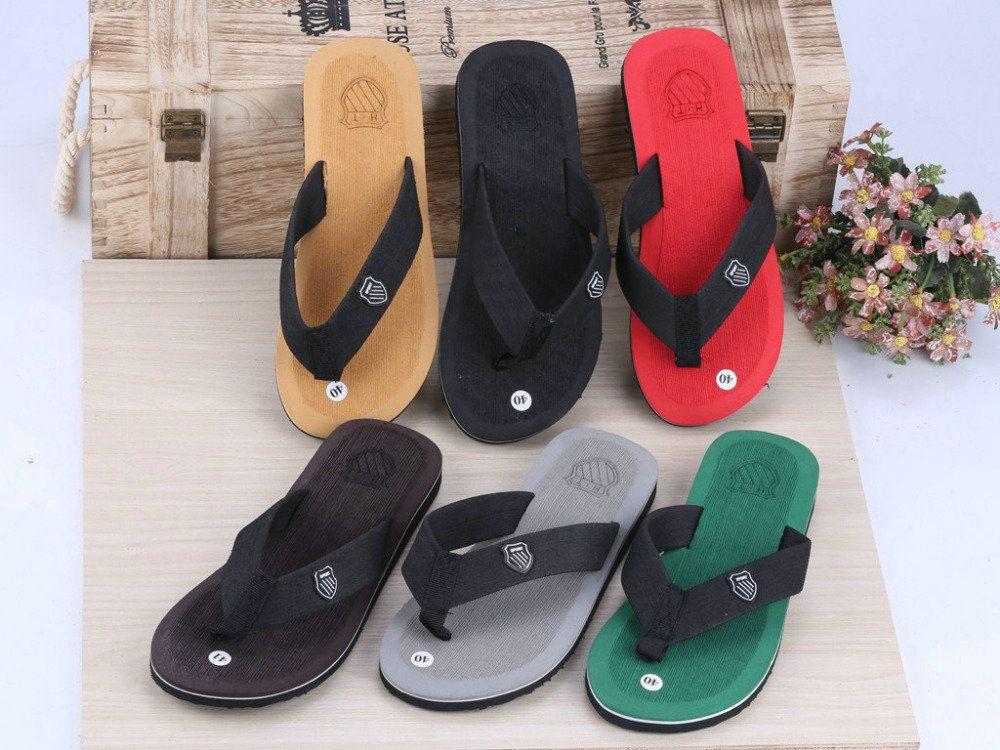 High Quality Fashion Men Summer Outdoor Stripe Flip Flops Shoes Casual Sandals Male Slipper Flip-Flops For Men Hot Sale 40-44