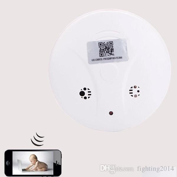 1080P WiFi Mini cámara IP Detector de humo Full HD Monitor remoto P2P Cámara CCTV Niñera CAM Seguridad Cámara de vigilancia Mini DVR