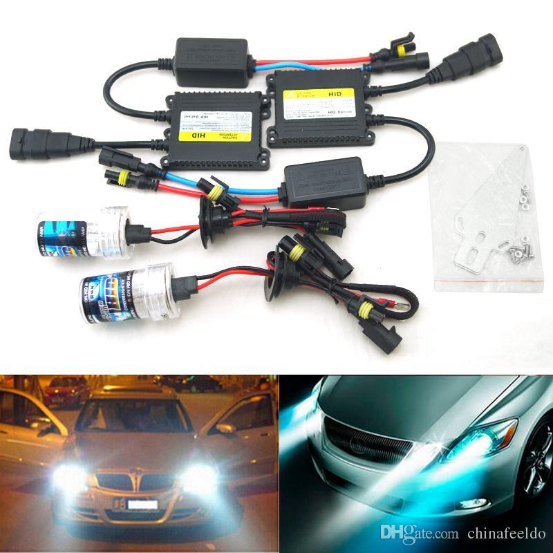 LEEWA AC 12V 35W H1 H3 H7 H8 H10 H11 9005 9006 Xenon HID Kit Car Headlight Bulb Lamp Digital Ballast 4471 Automobile Lights Automotive From