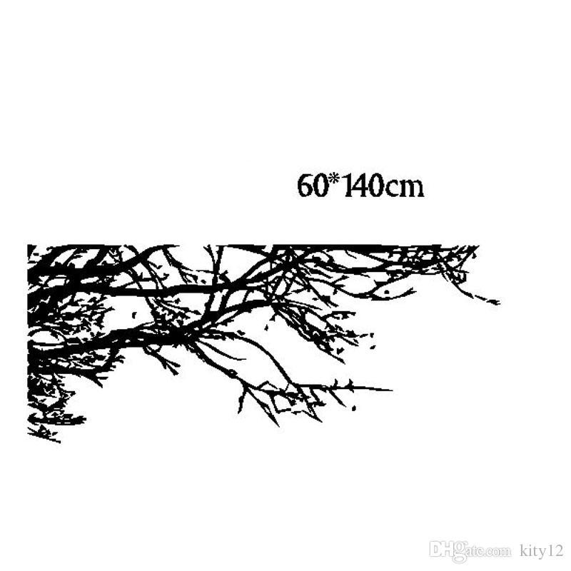 فروع شجرة الأسود الجدار ملصق diy الفن الفينيل ملصقات الحائط صائق ديكور جدارية المنزل الديكور خلفيات