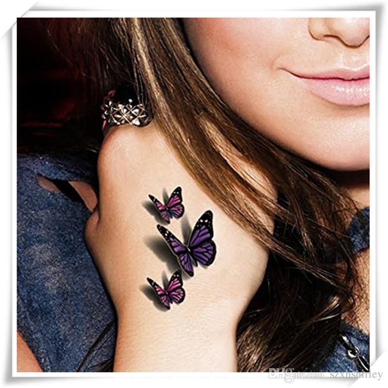 3D Sexy Multicolor Schmetterling Tattoo Aufkleber Body Art Aufkleber Flying Butterfly Wasserdichtes Papier Temporäre Tattoo Aufkleber 1 Blätter