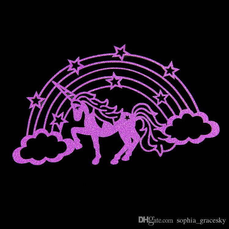 Glitter Wedding Birthday Party Cakes Toppers unicorn horse rainbow design Christmas Party cupcake picks