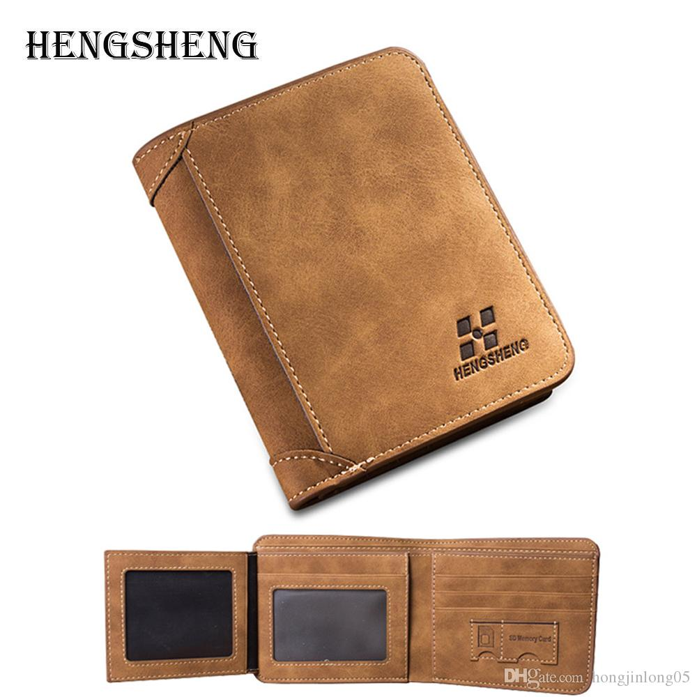 New Arrival Mens Vintage Short Wallets 2017 Male Brand Men PU Leather Thin Wallet Purses Multifunctional Billfold Card Holders