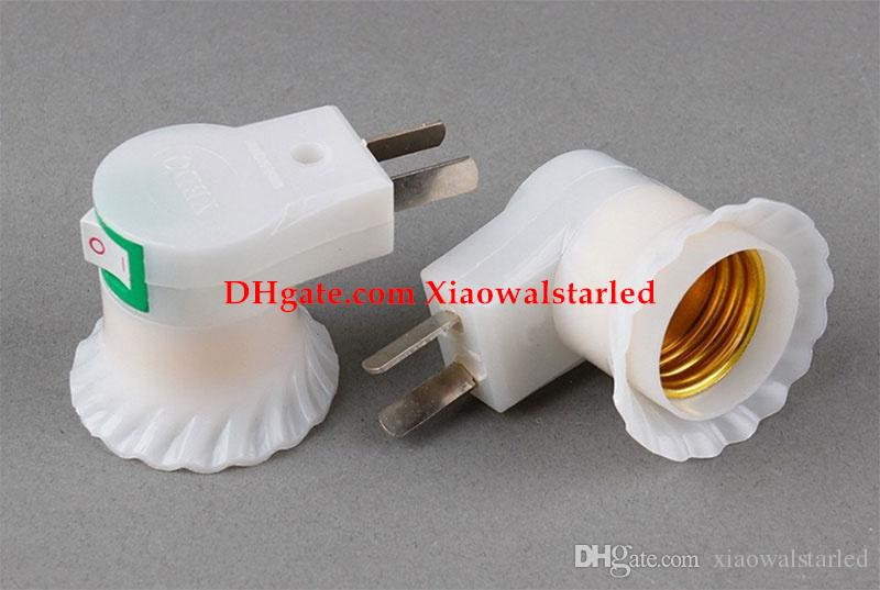 prise d'alimentation usine avec interrupteur E27 support de lampe à vis murale, support de lampe en plastique offre spéciale conversion par
