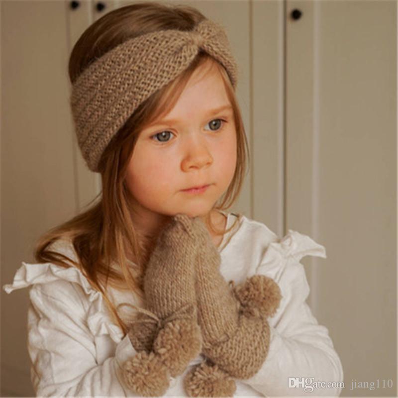 Großhandel Knoten Stirnband Ins Bebe Mädchen Winter Häkeln ...