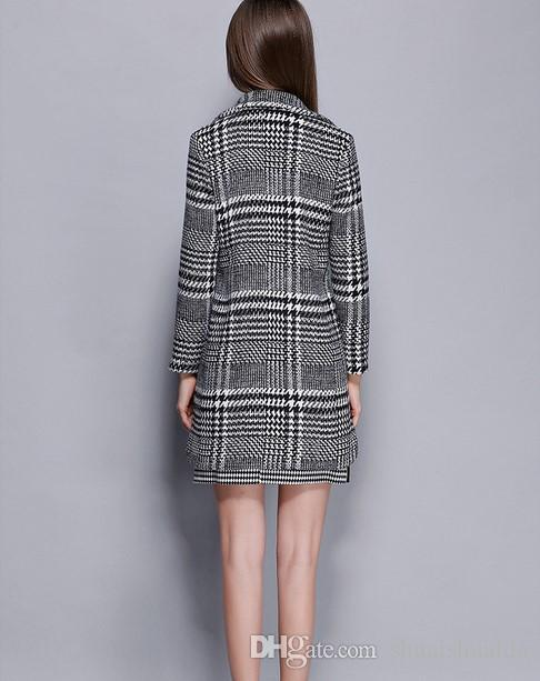 2017 новая одежда. Дамы одеваются. Кашемир. Женское пальто. Женское шерстяное пальто. Женское пальто. Держать в тепле. Зимняя одежда. 100% полиэстер.Плед.