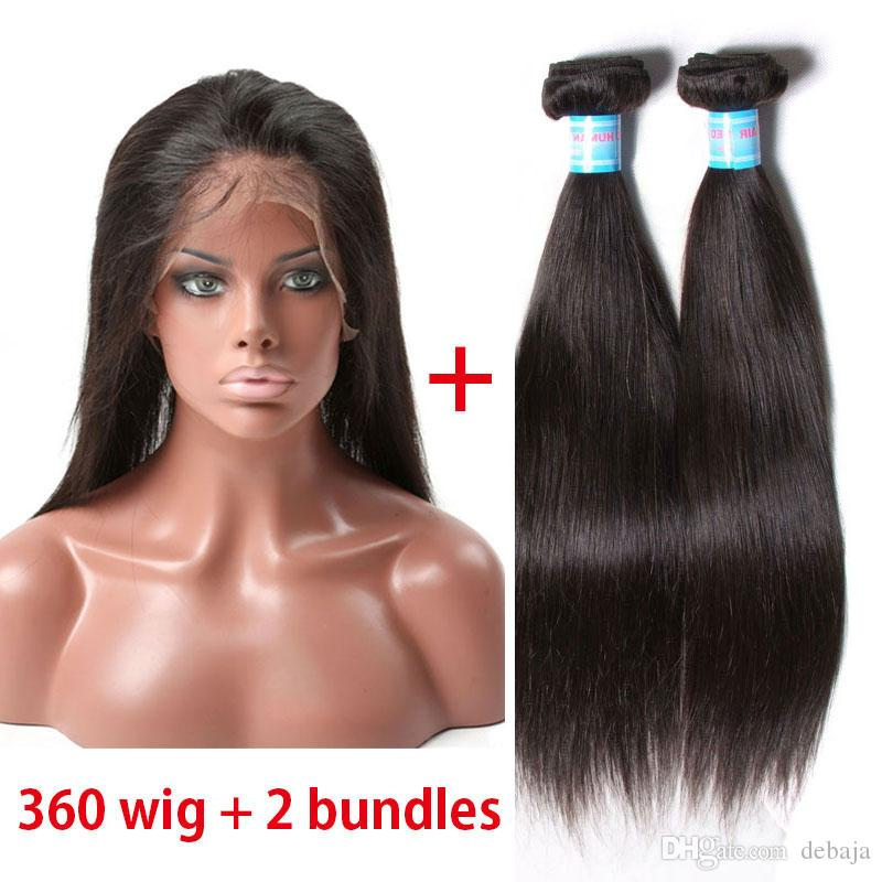 Cheap straight human hair weaves with 360 lace frontal closure see larger image pmusecretfo Image collections