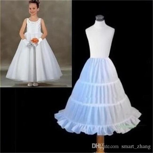 2017 Nuovi bambini Petticoat Dress A-line 3 Hoops Crinolina sottogonna Accessori da sposa Flower Girl Dress