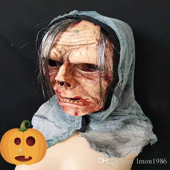 Top Grade 100% Latex Ghost Zombie Mask Halloween Full Face All Saints' Day Latex Creepy Scary horror monster mask Devil Ghost Skull Mask