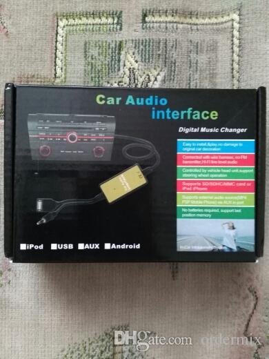 Adaptador de interfaz USB MP3 para automóvil CD Entrada de entrada auxiliar para Audi A2 A4 A6 S6 A8 TT S4 S8 con conector mini ISO 8P azul