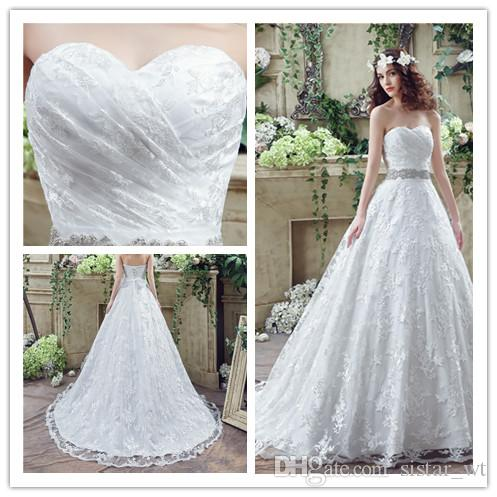 2018 lace long sweetheart train women bridal gowns floor length 2018 lace long sweetheart train women bridal gowns floor length appliques big girls pageant party catwalk celebrity wedding dresses modest wedding gowns off junglespirit Choice Image