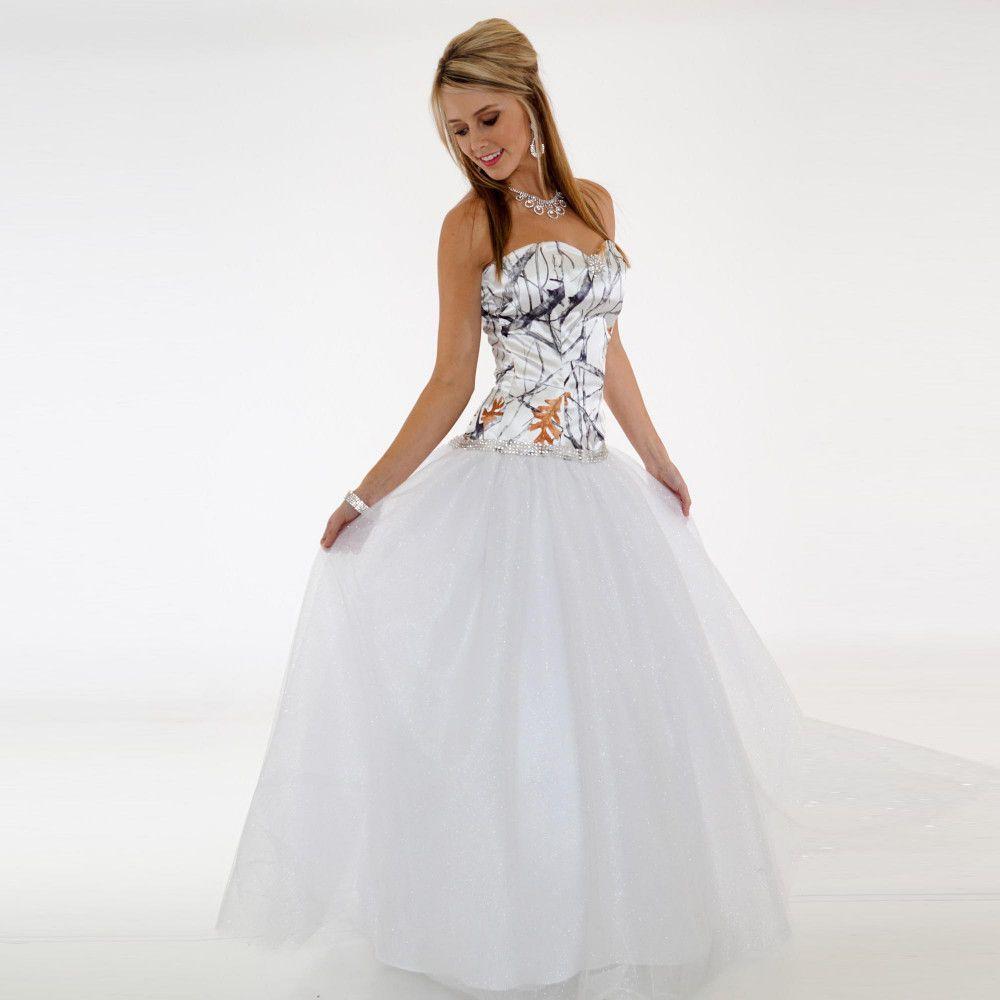 Abiti da sposa semplici Camo economici Sweetheart Una linea Tulle Wedding Guest Dress Abiti da sposa lunghezza del pavimento Zipper abito da damigella lungo