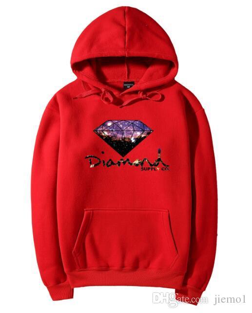 Moda Elmas tedarik co erkekler hoodie kadınlar sokak polar sıcak kazak kış sonbahar moda hip hop ilkel kazak