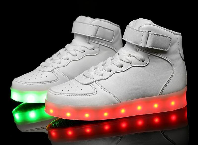 afb4aab7fed2 Men Colorful Glowing Casual Shoes With Lights Up Famale Led Luminous Shoes  Male Led Shoes For Adults Neon Basket Big Size 35 46 Slip On Shoes Formal  Shoes ...