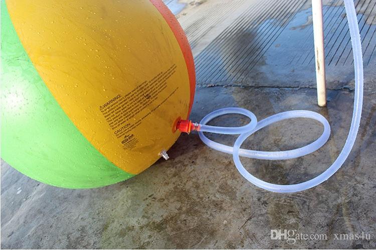 Beach Ball In Water 2017 inflatable beach water ball outdoor sprinkler summer