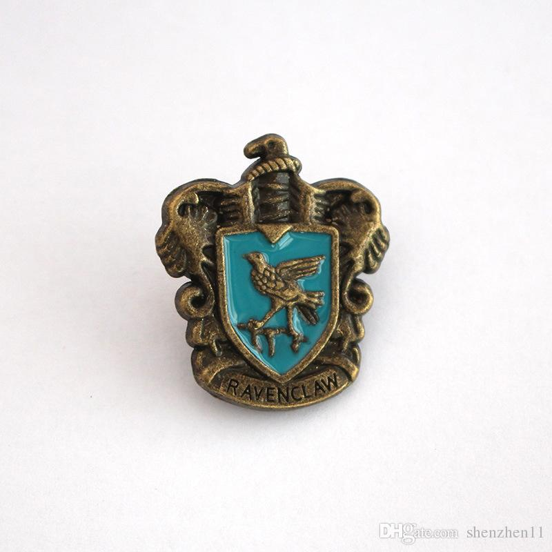 Harry Potter Insignia 5 RolesBadge Metal Gryffindor Hufflepuff Slytherin Ravenclaw and Hogwarts Halloween Cosplay OTH612
