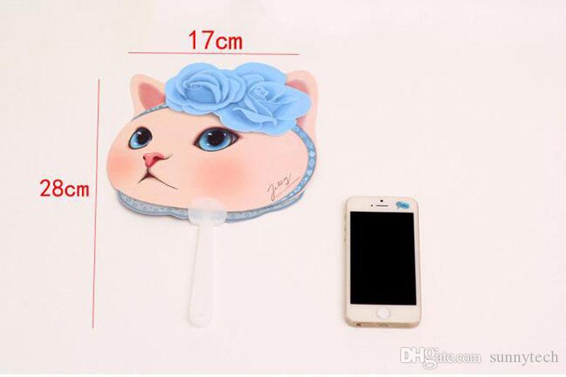 Милый кот пластиковые руки вентилятор мультфильм животных котенок летние аксессуары для девочки дети День Рождения вкусы и подарки ZA2847