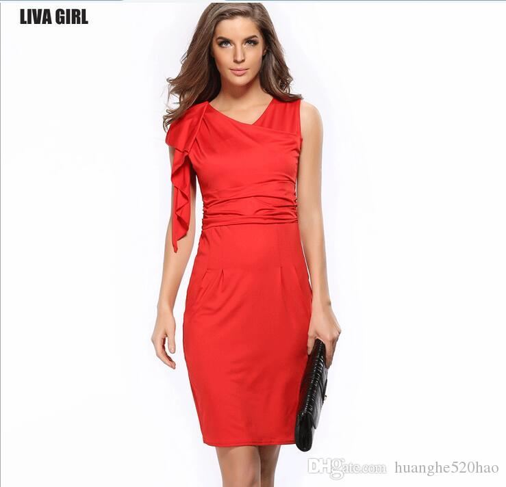 Casual Tea Length Dress