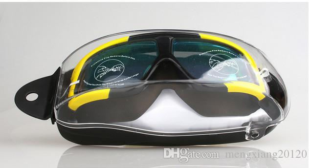 Взрослый мужчина женщина новые 2017 плавательные очки HD противотуманные очки Большая рама Силикатное покрытие геля Плоские очки для плавания унисекс