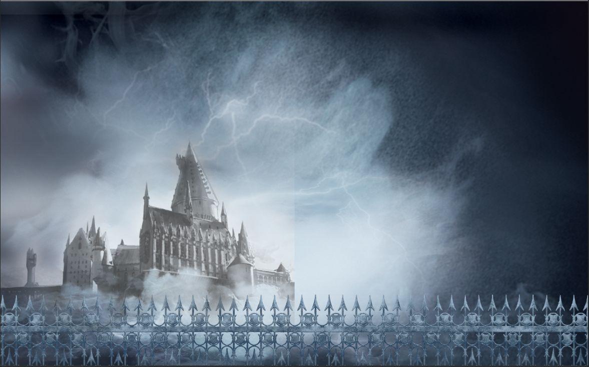 2019 7x5ft Clouds Sky Harry Potter Hogwarts Fence Custom
