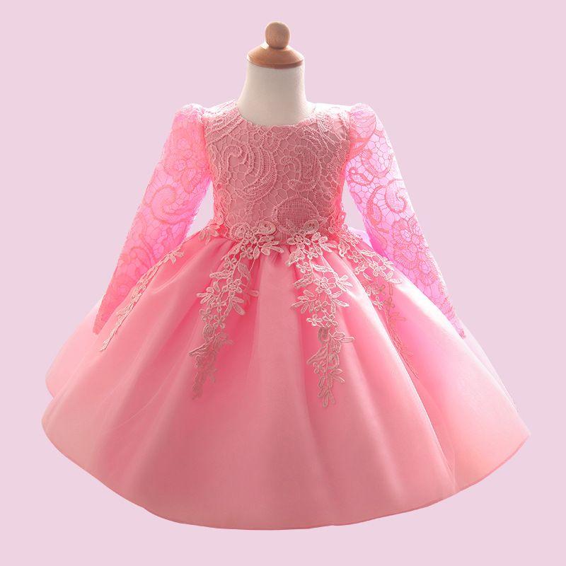 e55d0cffb TSY Blanco Bautizo Vestido de Niña Bebé Boda para Niñas 1 año Cumpleaños  Recién Nacido Vestidos de Niños Princesa Vestido Infantil Ropa de ...
