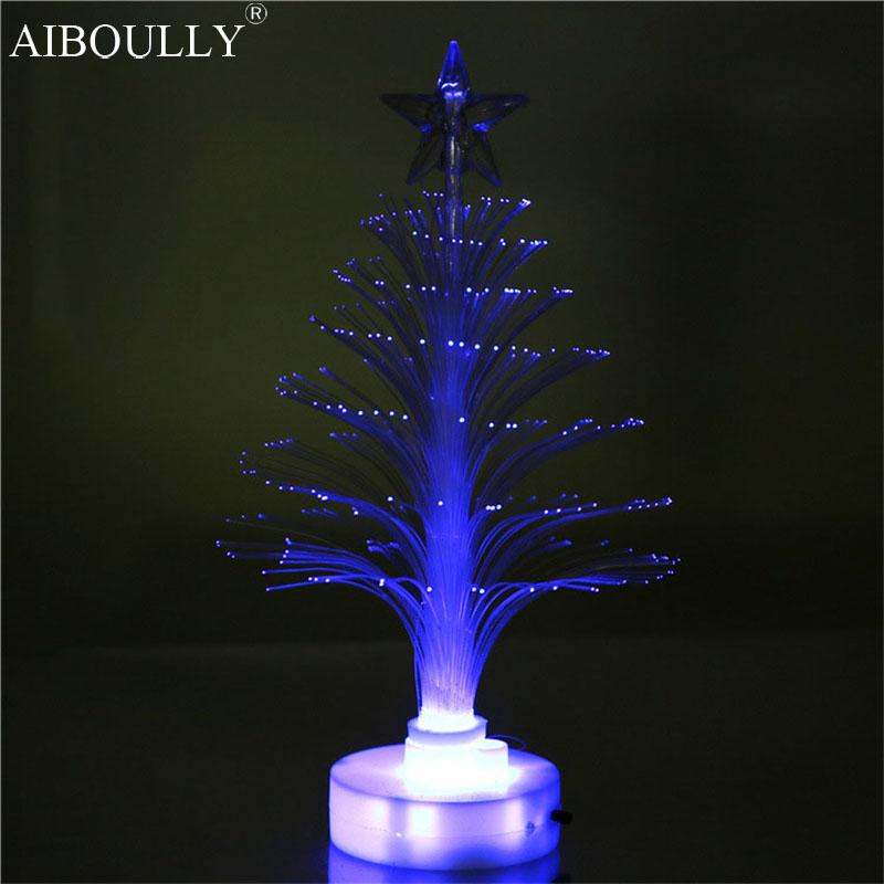 2018 wholesale manufacturers selling led optical fiber creative christmas tree light decoration small night lights flash model toy from sophine14