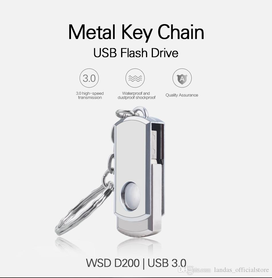 USB 3.0 High speed Metal Rotation usb flash drive u disk 64GB 32GB 16GB 8GB 4GB Pen drive Memory stick flash business gift